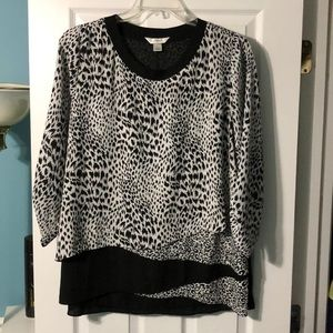 CJ Banks Leopard Print Layered Tunic
